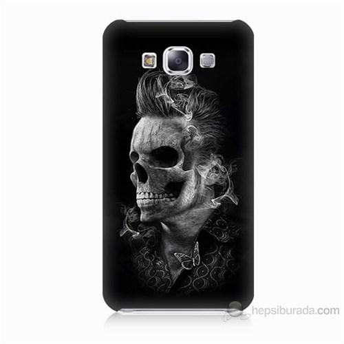 Teknomeg Samsung Galaxy E7 Elvis Presley Efsanesi Baskılı Silikon Kılıf