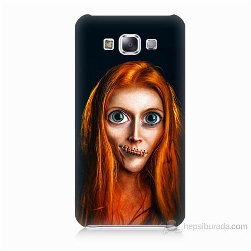 Teknomeg Samsung Galaxy E7 Zombie Kız Baskılı Silikon Kılıf
