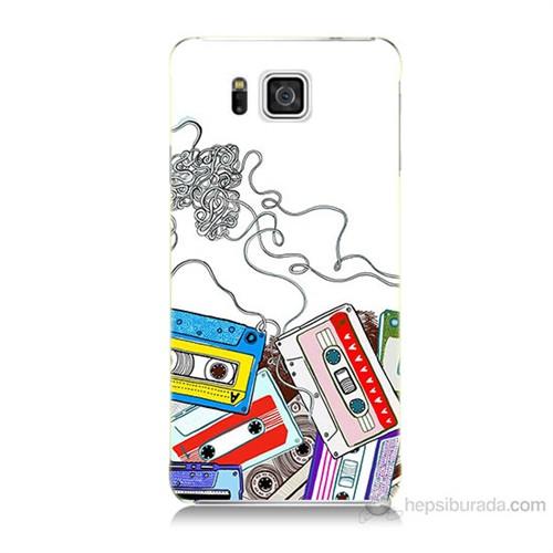 Teknomeg Samsung Galaxy Alpha G850 Kasetler Baskılı Silikon Kılıf