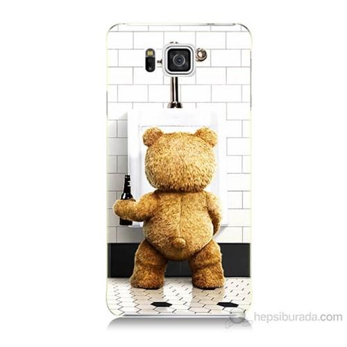 Teknomeg Samsung Galaxy Alpha G850 Tedy Bear Baskılı Silikon Kılıf