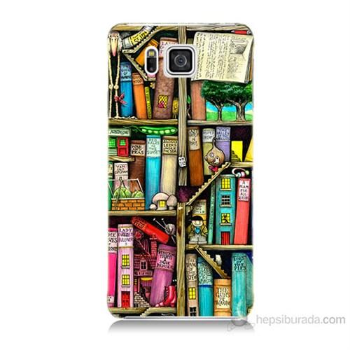 Teknomeg Samsung Galaxy Alpha G850 Kitaplık Baskılı Silikon Kılıf