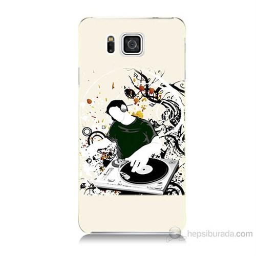 Teknomeg Samsung Galaxy Alpha G850 Disc Jokey Baskılı Silikon Kılıf