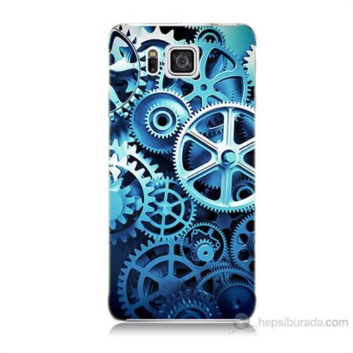 Teknomeg Samsung Galaxy Alpha G850 Çarklar Baskılı Silikon Kılıf
