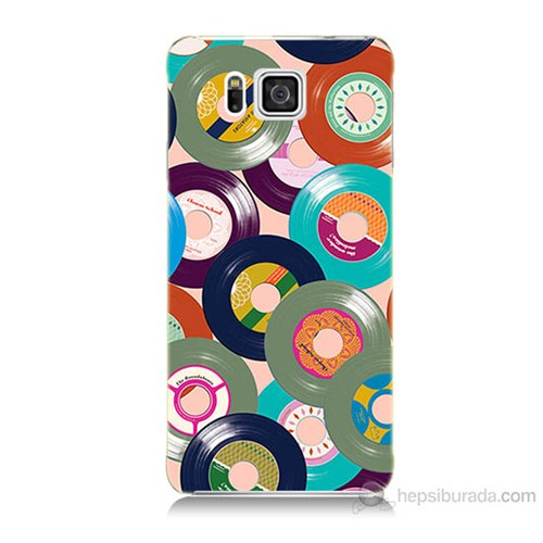 Teknomeg Samsung Galaxy Alpha G850 Renkli Plaklar Baskılı Silikon Kılıf