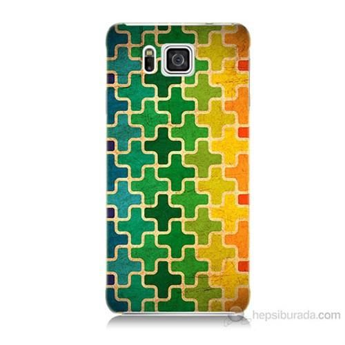 Teknomeg Samsung Galaxy Alpha G850 Renkli Artı Baskılı Silikon Kılıf