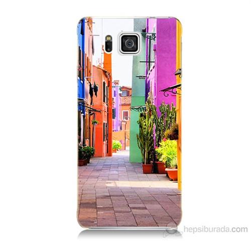 Teknomeg Samsung Galaxy Alpha G850 Sokak Baskılı Silikon Kılıf