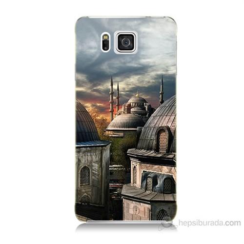 Teknomeg Samsung Galaxy Alpha G850 Cami Baskılı Silikon Kılıf