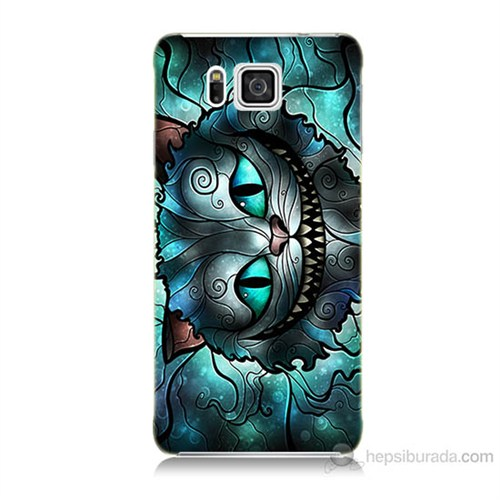 Teknomeg Samsung Galaxy Alpha G850 Alice Kedi Baskılı Silikon Kılıf