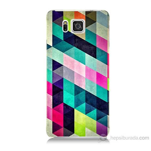 Teknomeg Samsung Galaxy Alpha G850 Mozaikler Baskılı Silikon Kılıf