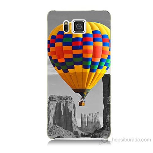 Teknomeg Samsung Galaxy Alpha G850 Renkli Uçan Balon Baskılı Silikon Kılıf
