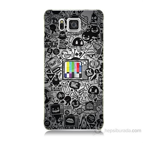 Teknomeg Samsung Galaxy Alpha G850 Renkli Tv Baskılı Silikon Kılıf