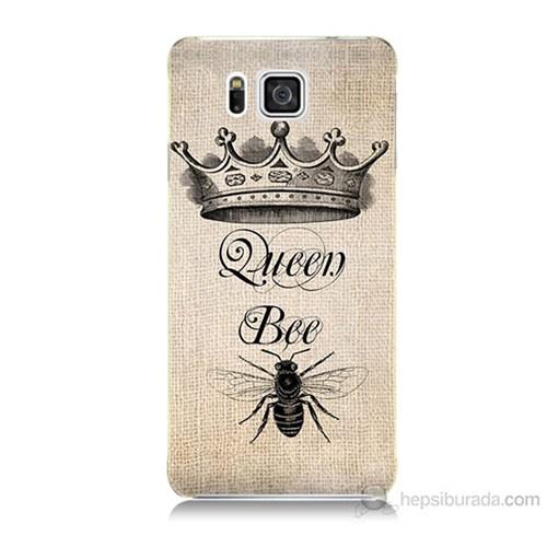 Teknomeg Samsung Galaxy Alpha G850 Queen Bee Baskılı Silikon Kılıf