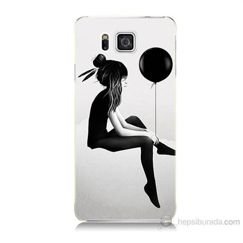 Teknomeg Samsung Galaxy Alpha G850 Balonlu Kız Baskılı Silikon Kılıf