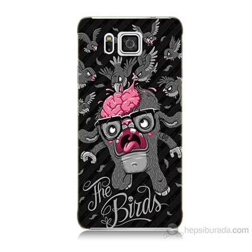 Teknomeg Samsung Galaxy Alpha G850 The Birds Baskılı Silikon Kılıf