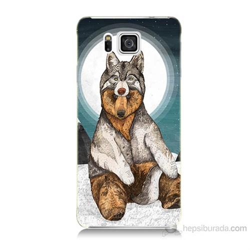 Teknomeg Samsung Galaxy Alpha G850 Postlu Ayı Baskılı Silikon Kılıf