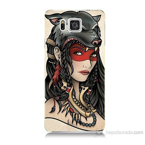 Teknomeg Samsung Galaxy Alpha G850 Pocahontas Baskılı Silikon Kılıf