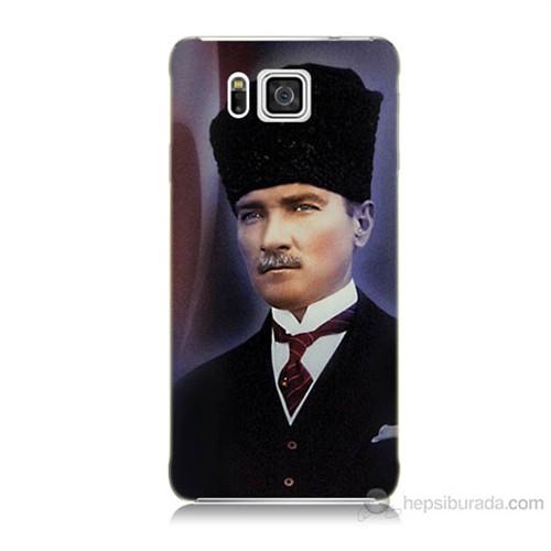 Teknomeg Samsung Galaxy Alpha G850 Mustafa Kemal Atatürk Baskılı Silikon Kılıf