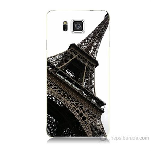 Teknomeg Samsung Galaxy Alpha G850 Eyfel Kulesi Baskılı Silikon Kılıf