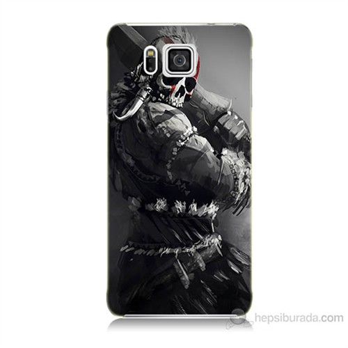 Teknomeg Samsung Galaxy Alpha G850 Tribal Warrior Baskılı Silikon Kılıf