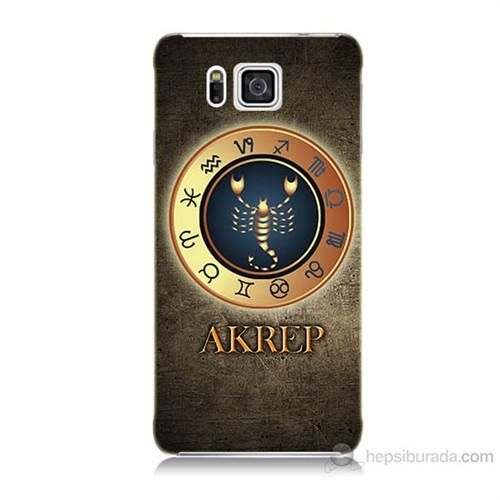 Teknomeg Samsung Galaxy Alpha G850 Akrep Burcu Baskılı Silikon Kılıf