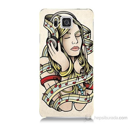 Teknomeg Samsung Galaxy Alpha G850 Müzik Aşkı Baskılı Silikon Kılıf