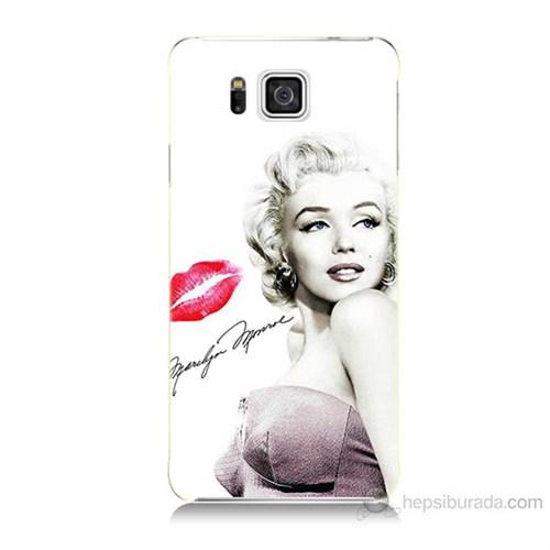 Teknomeg Samsung Galaxy Alpha G850 Marilyn Monroe Baskılı Silikon Kılıf
