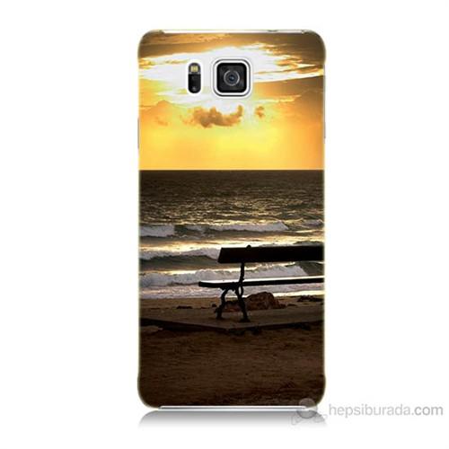 Teknomeg Samsung Galaxy Alpha G850 Gün Batımı Baskılı Silikon Kılıf