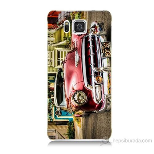 Teknomeg Samsung Galaxy Alpha G850 Klasik Araba Baskılı Silikon Kılıf