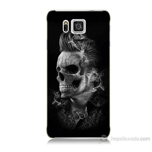 Teknomeg Samsung Galaxy Alpha G850 Elvis Presley Efsanesi Baskılı Silikon Kılıf