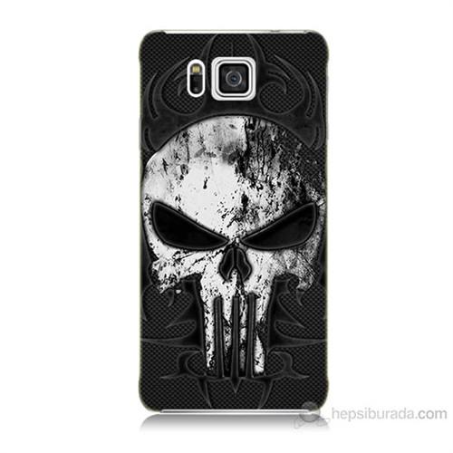 Teknomeg Samsung Galaxy Alpha G850 Punnisher Kurukafa Baskılı Silikon Kılıf