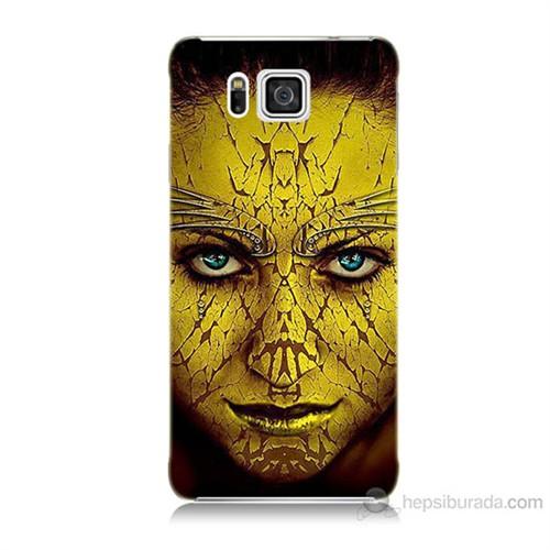 Teknomeg Samsung Galaxy Alpha G850 Sarı Kız Baskılı Silikon Kılıf