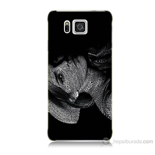 Teknomeg Samsung Galaxy Alpha G850 Yazılı Kadın Baskılı Silikon Kılıf
