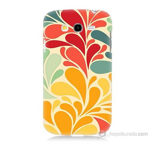 Teknomeg Samsung Galaxy Grand Duos İ9082 Çiçekler Baskılı Silikon Kılıf