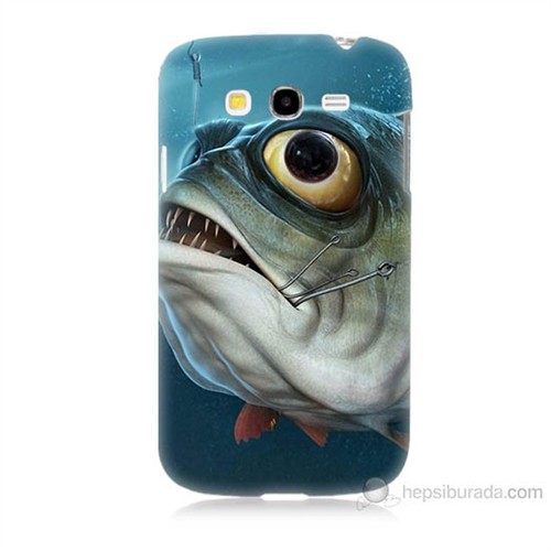 Teknomeg Samsung Galaxy Grand Duos İ9082 Balık Baskılı Silikon Kılıf