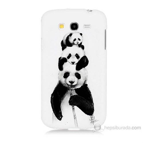 Teknomeg Samsung Galaxy Grand Duos İ9082 Panda Ailesi Baskılı Silikon Kılıf