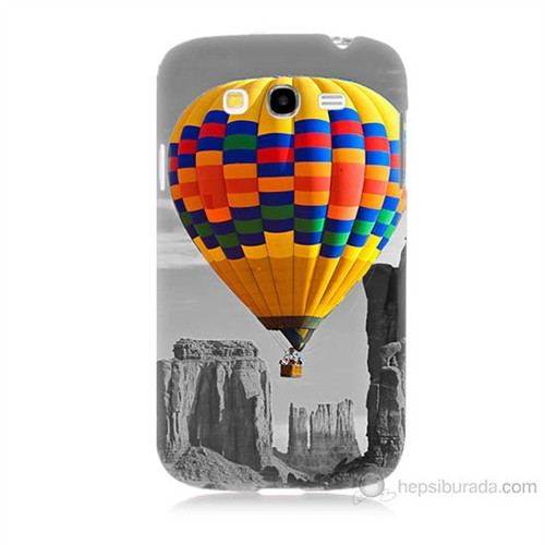 Teknomeg Samsung Galaxy Grand Duos İ9082 Renkli Uçan Balon Baskılı Silikon Kılıf