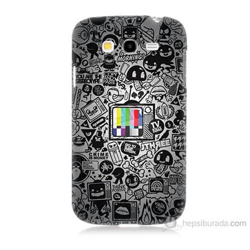 Teknomeg Samsung Galaxy Grand Duos İ9082 Renkli Tv Baskılı Silikon Kılıf