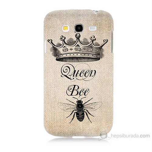 Teknomeg Samsung Galaxy Grand Duos İ9082 Queen Bee Baskılı Silikon Kılıf