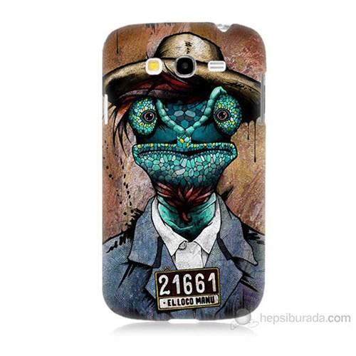 Teknomeg Samsung Galaxy Grand Duos İ9082 İguana Adam Baskılı Silikon Kılıf