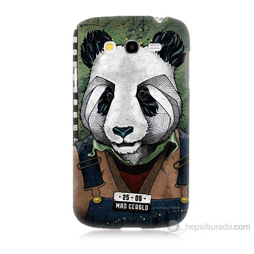 Teknomeg Samsung Galaxy Grand Duos İ9082 İşçi Panda Baskılı Silikon Kılıf