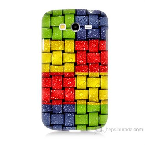 Teknomeg Samsung Galaxy Grand Duos İ9082 Renkli Sargılar Baskılı Silikon Kılıf