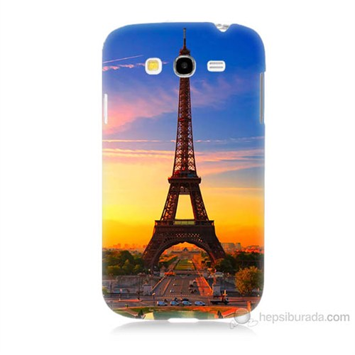 Teknomeg Samsung Galaxy Grand Duos İ9082 Eyfelde Gün Batımı Baskılı Silikon Kılıf