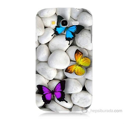 Teknomeg Samsung Galaxy Grand Duos İ9082 Kelebekler Baskılı Silikon Kılıf