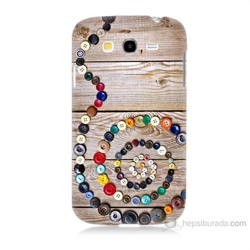 Teknomeg Samsung Galaxy Grand Duos İ9082 Düğmeler Baskılı Silikon Kılıf