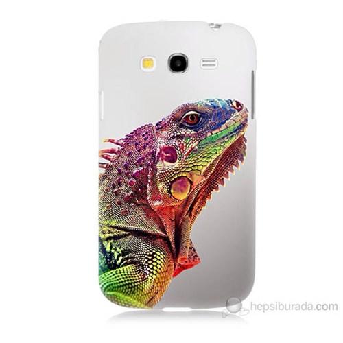 Teknomeg Samsung Galaxy Grand Duos İ9082 İguana Baskılı Silikon Kılıf