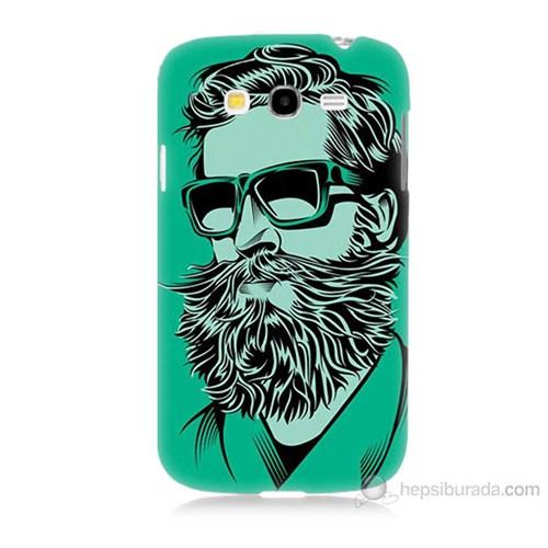 Teknomeg Samsung Galaxy Grand Duos İ9082 Beard Art Baskılı Silikon Kılıf