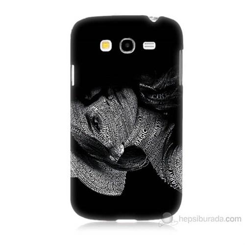 Teknomeg Samsung Galaxy Grand Duos İ9082 Yazılı Kadın Baskılı Silikon Kılıf