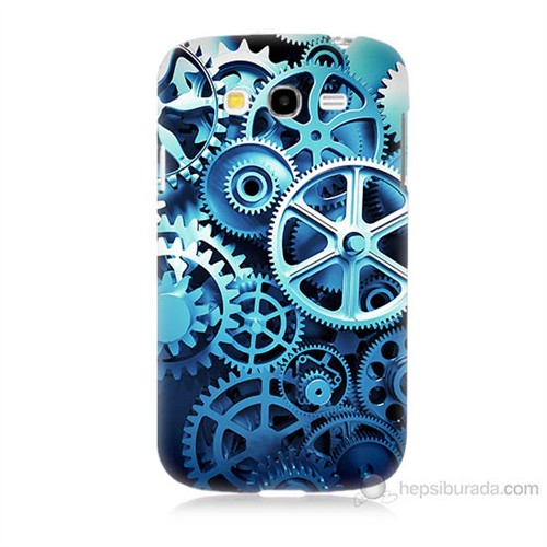 Teknomeg Samsung Galaxy Grand Neo İ9060 Çarklar Baskılı Silikon Kılıf