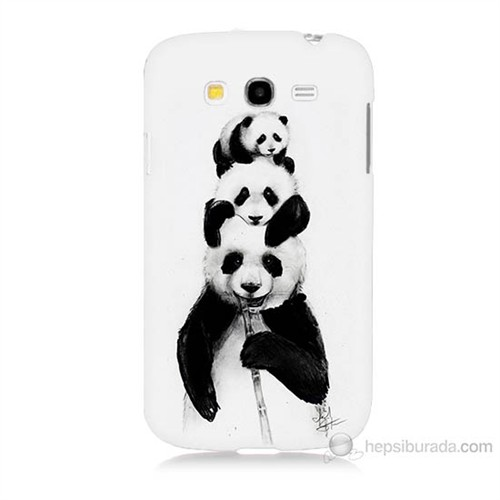 Teknomeg Samsung Galaxy Grand Neo İ9060 Panda Ailesi Baskılı Silikon Kılıf