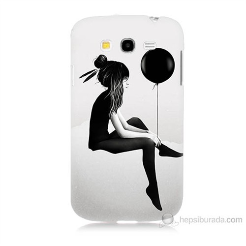 Teknomeg Samsung Galaxy Grand Neo İ9060 Balonlu Kız Baskılı Silikon Kılıf